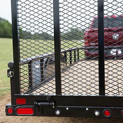 Optional 4' Tall Rampgate with Coil-Spring Assist